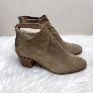 Sesto Meucci Back Zip Ankle Booties Size 6-6.5